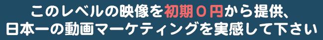 日本一の動画マーケティングを実感してください