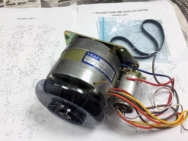 TEAC A-6100 markⅡ キャプスタンモーター交換!(その3)