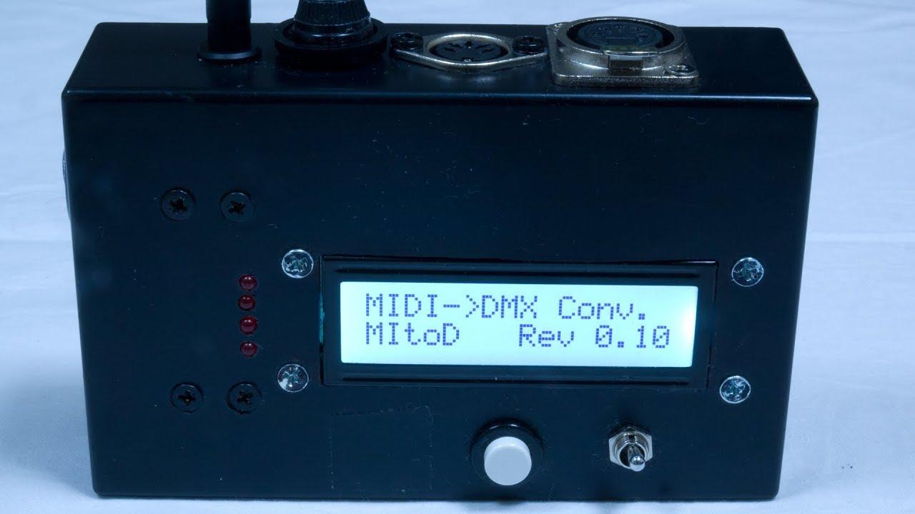 MIDI to DMX コンバーター MDM-32mini